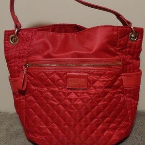 Nicole Miller Quilted Shoulder Bag.